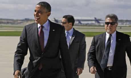 Barack Obama at Wisconsin air base
