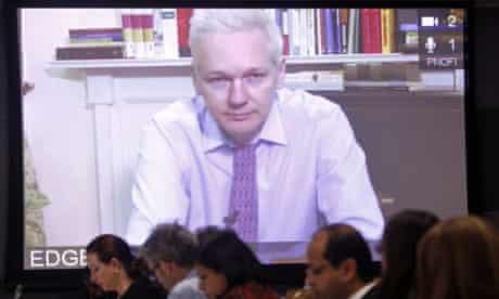 Julian Assange addresses UN