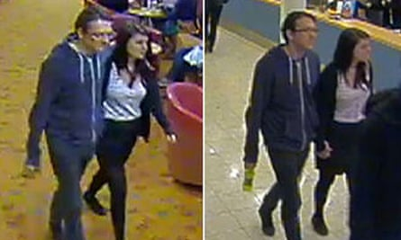 A combo of handout CCTV images released