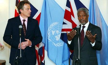 Tony Blair and Kofi Annan
