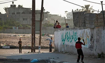 Youths in Gaza City