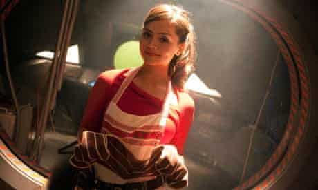 What's cooking? … Jenna-Louise Coleman in her surprise early appearance.