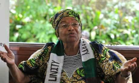Liberia's President Ellen Johnson Sirleaf