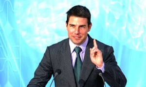 Tom Cruise opening of a Church of Scientology building in Madrid.