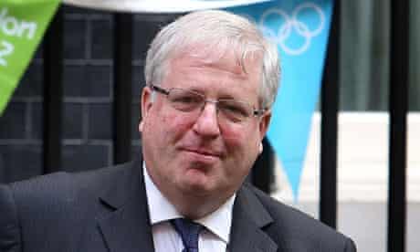 Patrick McLoughlin leaving Downing Street