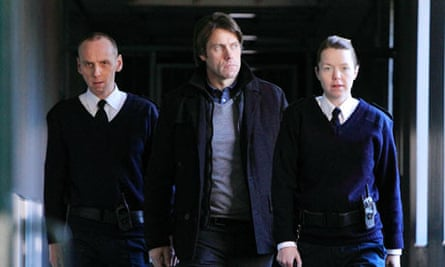 Ewen Bremner, John Bishop and Anna Maxwell Martin in Accused.