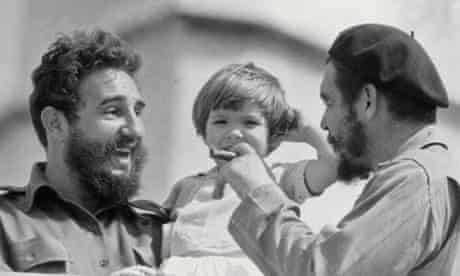 Aleida Guevara with her father and Fidel Castro in 1963