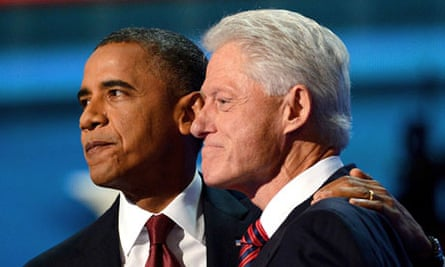 Barack Obama and Bill Clinton at the Democratic convention in Charlotte, North Carolina, last week.