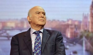 Vince Cable on the Andrew Marr Show on BBC One.
