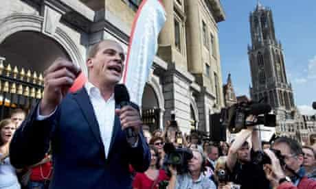 Dutch election campaign Labour party leader Diederik Samsom