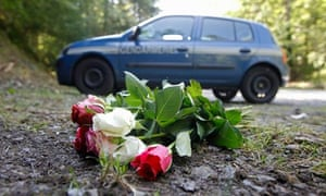 french alps shootings scene flowers