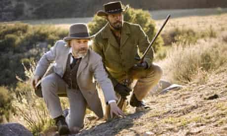 Christoph Waltz and Jamie Foxx in Django Unchained.