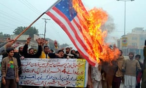 Pakistani demonstrators shout slogans be