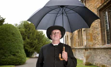 Mark Williams as Father Brown.
