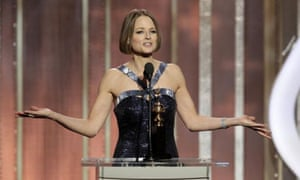 Jodie Foster at the Golden Globes