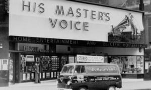 An HMV store in 1963