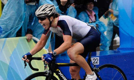 Nicole Cooke at the Beijing Olympics 2008