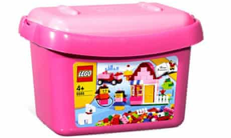 Pink lego aimed at girls