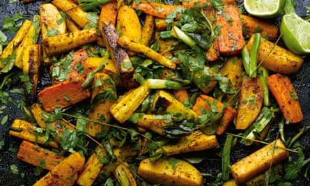 Yotam Ottolenghi: curry roasted root vegetables with lime