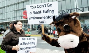 People for the Ethical Treatment of Animals lobby for vegetarianism.