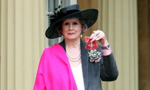 April Ashley with her MBE, December 2012