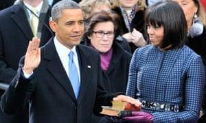 Barack Obama Michell Obama inauguration ceremony
