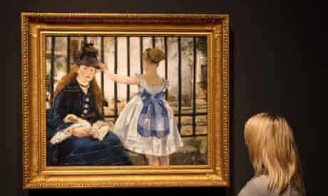 Manet, The Railway, Portraying Life exhibition, Royal Academy of Arts, London, Britain - 22 Jan 2013