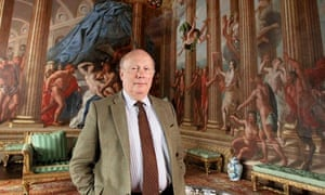 Julian Fellowes in Burghley House.