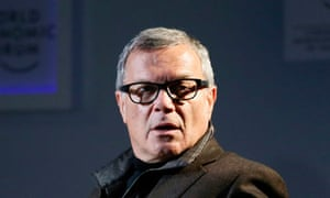 WPP CEO Sorrell attends a TV show during the annual meeting of the World Economic Forum in Davos