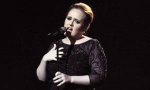 Adele, singer, 2011