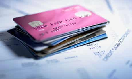Credit cards stacked up