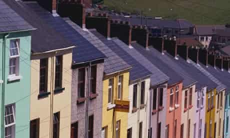 Colorful Row Houses in Bogside