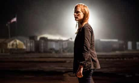 Jessica Chastain in a scene from Zero Dark Thirty