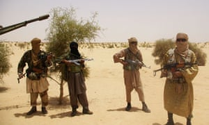 Islamist fighters from Islamist group Ansar Dine in Mali.