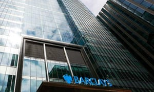 Barclays bank headquarters is seen in Canary Wharf