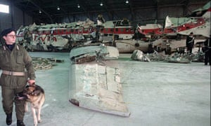 The remains of the Itavia airliner