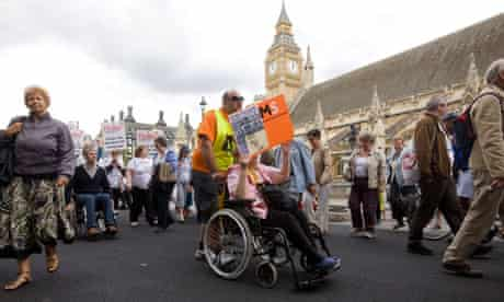Demonstration against cuts to disability benefits