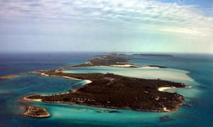 One of David Copperfield's private islands, Musha Cay, in the Bahamas.