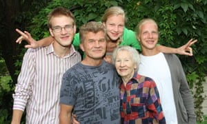 Lithuanian swimmer Ruta Meilutyte pictured with her family