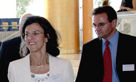 George Papaconstantinou and his cousin Eleni, in 2005