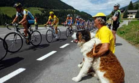 Lance Armstrong and dog
