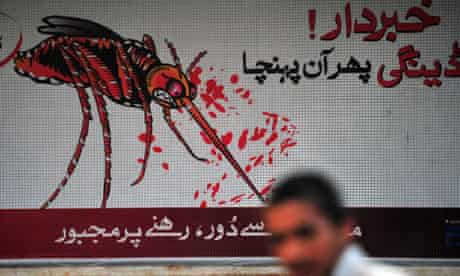 A poster in Pakistan warning against the deadly tropical disease dengue fever