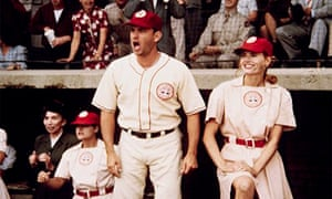 Hanks with Geena Davis in A League of Their Own.