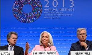 IMF World Bank Annual Meeting Christine Lagarde