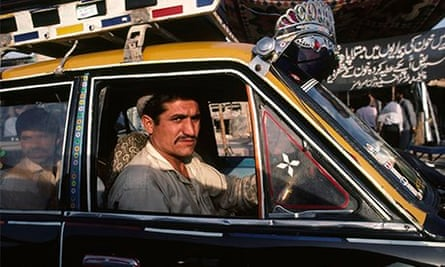 A driver in Karachi, in Pakistan.