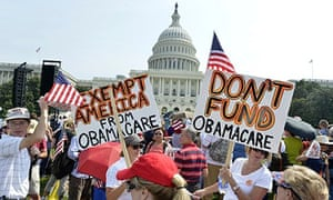 Tea Party Holds US Capitol Rally To Protest Obamacare In Washington D.C.