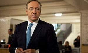 Kevin Spacey in a publicity picture for House of Cards; Netflix made the whole series available at o