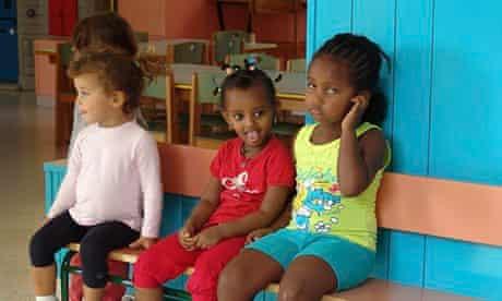 Children at Riace's nursery school