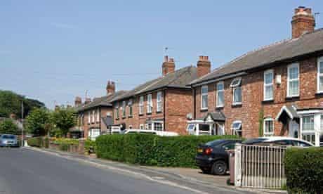 A quiet suburban street near Manchester, UK