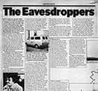 Secrets: Time Out article entitled The Eavesdroppers